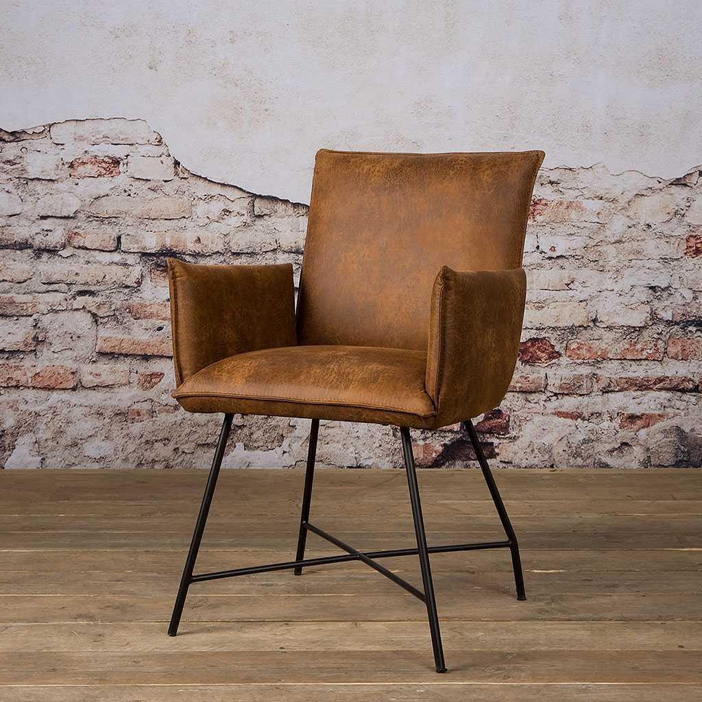 Stuhl mit gepolsterter Armlehne | Tobi