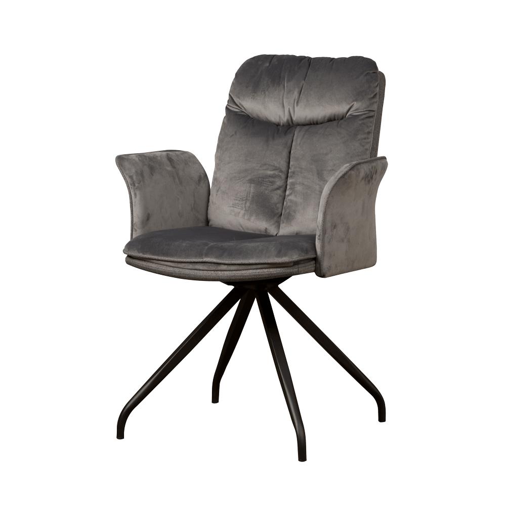 Drehbarer Stuhl mit gepolsterter Armlehne | Rosa